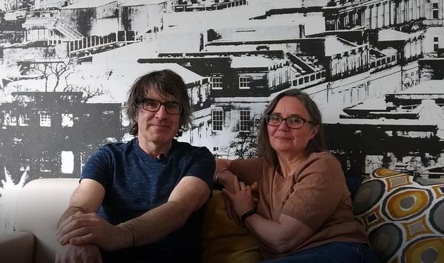 Parents Alison and Donald Livingston in Ronald McDonald House Edinburgh.