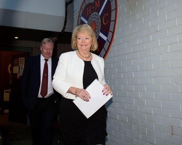 Hearts owner Ann Budge has been criticised by fans.