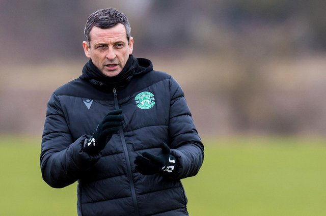 Hibs manager Jack Ross refused to shy away from the enormity of last week's league clash with Ross County, in Dingwall. Photo by Ross Parker / SNS Group