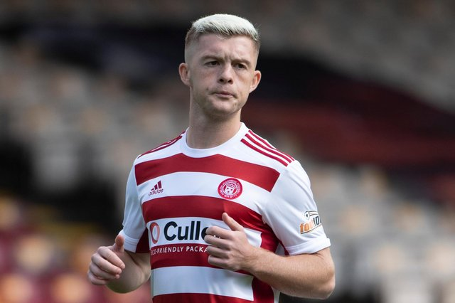 Hamilton Accies attacker Callum Smith scored the only goal of the game. Picture: SNS