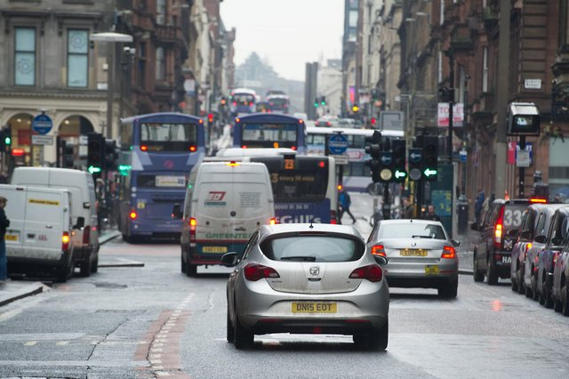 Glasgow's low emission zone will be extended from buses to all vehicles next year. Picture: John Devlin