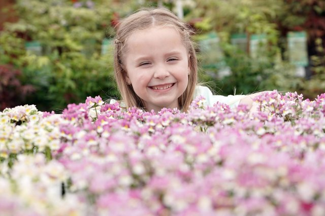 Paige Gallacher, age 5, from Penicuik, loves these blooms
