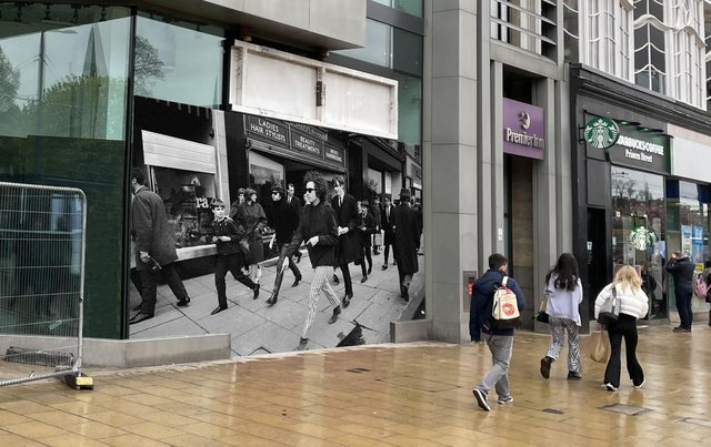 A mock-up showing Barry Feinstein's iconic photo in situ on Princes Street