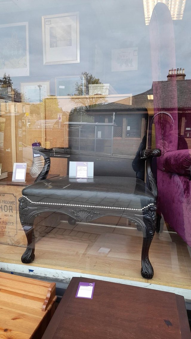 A set of luxury chairs are on sale for £2500 each at the Bethany Christian Trust's Morningside shop.