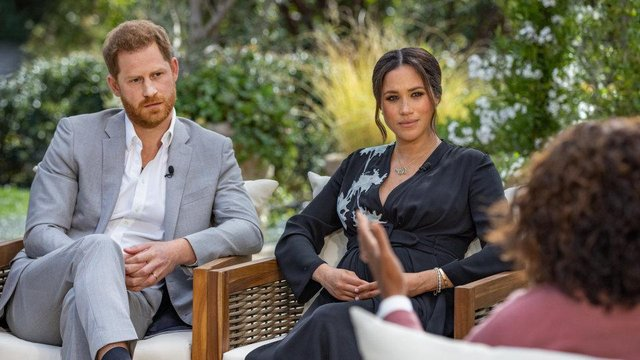 """Harry has described some of the coverage of his relationship with Meghan Markle as having """"racial"""" and """"colonial"""" undertones (ITV)"""