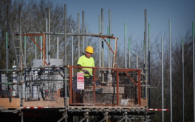 The number of construction jobs in Edinburgh has fallen dramatically since the pandemic struck (Picture: Paul Ellis/AFP via Getty Images)