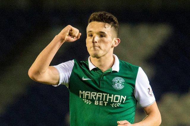 John McGinn could net Hibs a sizeable amount if sold by Aston Villa. Picture: SNS