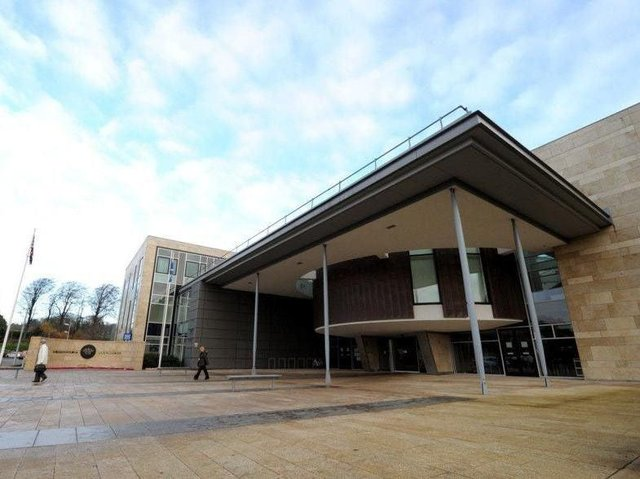 Two men have been jailed for their part in a terrifying campaign of threats involving an imitation handgun. Pic: The High Court in Livingston.