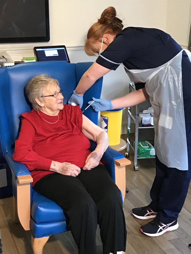 """Vaccine uptake among care home residents has been """"impressive"""""""