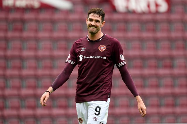 Kyle Lafferty has found his best formsince leaving Hearts  at Kilmarnock. Picture: SNS