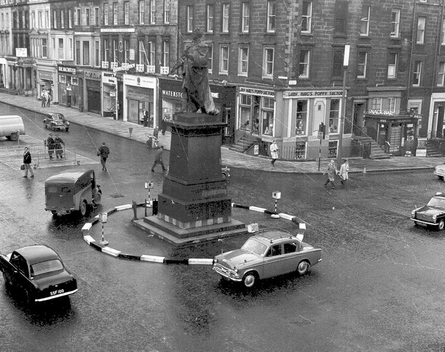 The junction of Hanover Street and George Street in November 1964.