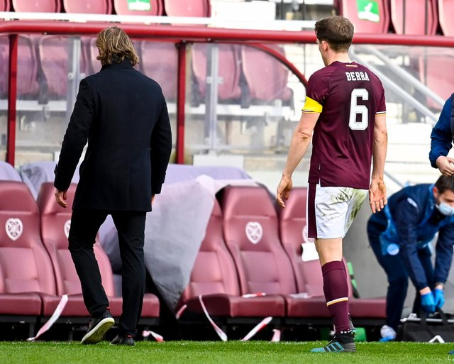 Things went from bad to worse for Hearts on Saturday. Picture: SNS