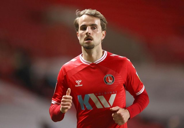 AndrewShinnie of Charlton Athletic looks on during the Sky Bet League One match between Charlton Athletic and Burton Albion. (Photo by James Chance/Getty Images)