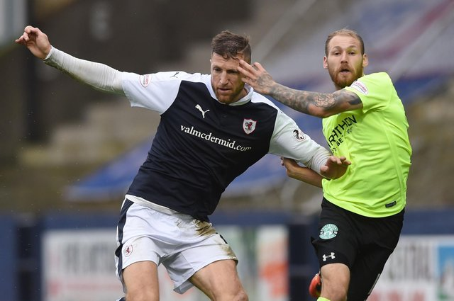 Iain Davidson in action against Hibs star Martin Boyle in October 2016. Picture: SNS
