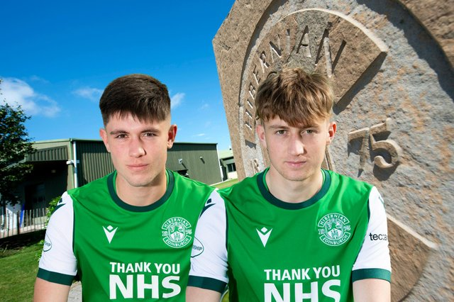 Connor Young, left and Robbie Hamilton were on target