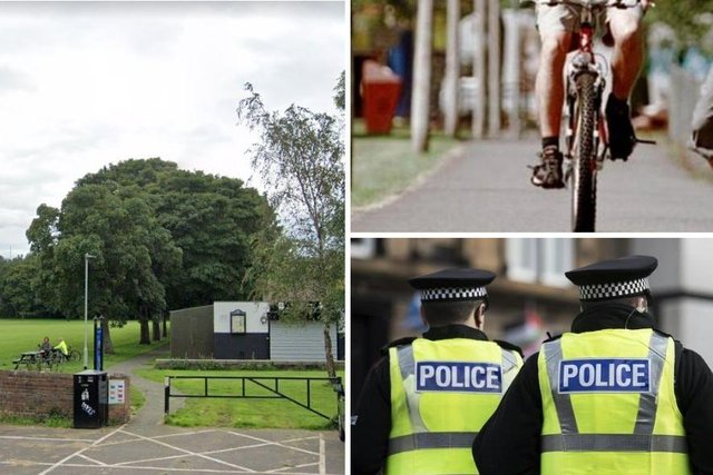 Police have received two reports this month of wire being tied across the Newcraighall public park cycle track.