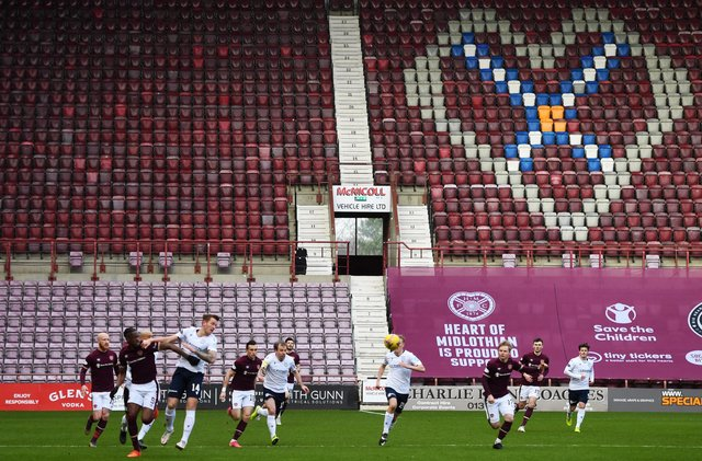Live coverage of the Championship clash between Hearts ad Dundee at Tynecastle Park. Picture: SNS