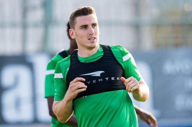 Paul Hanlon says Hibs will have to do their homework on little-known European opponents. Photo by SNS Group