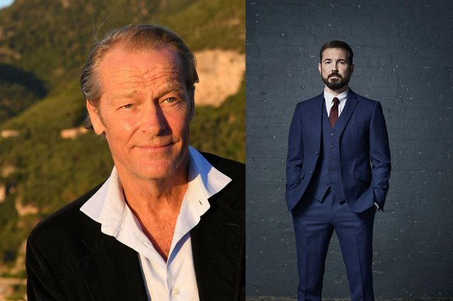 Iain Glen joins Martin Compston in The Rig picture: Shutterstock and PA