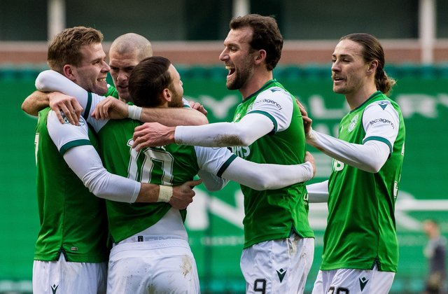 Hibs are on track to finish third, according to the latest projections