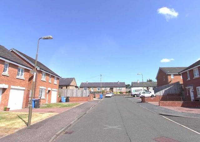 The collision happened in Langside Drive, Blackridge, West Lothian. Pic: Google