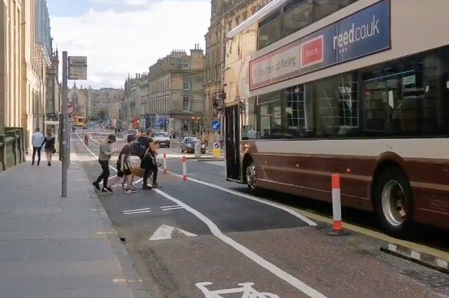Floating bus stop as part of Spaces for People