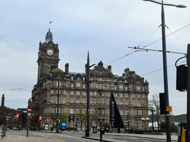 The Balmoral Clock was spotted running almost an hour slow this morning