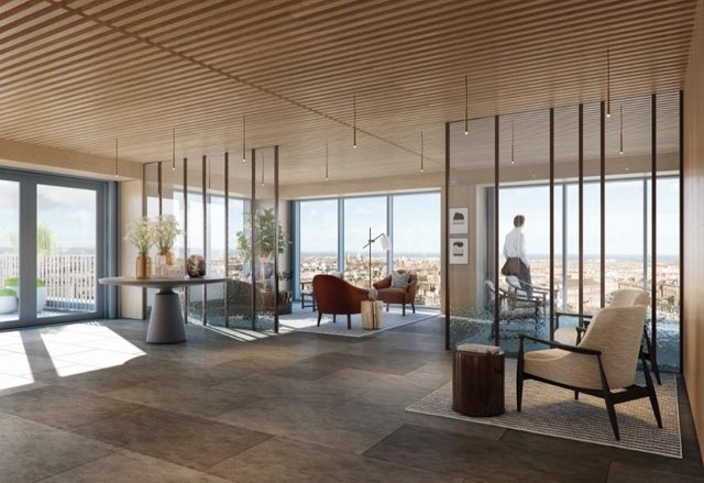 Floor to ceiling glazing will offer incredible views over the city