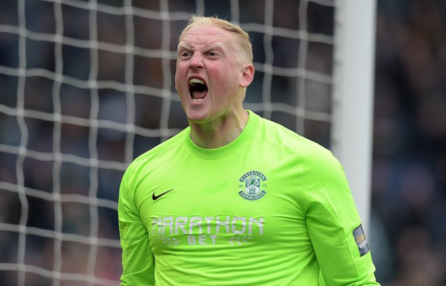 Conrad Logan teased Rangers over Hibs' 3-2 Scottish Cup final win. Picture: SNS