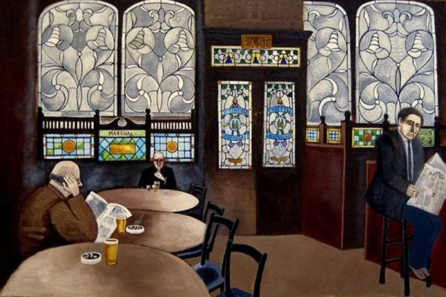Michael McVeigh's atmospheric interior of Bennets bar in Leven Street