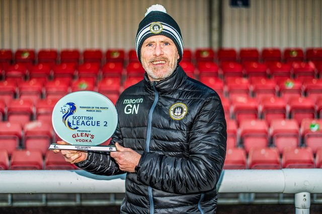 Edinburgh City have won six and drawn one of seven league games under Gary Naysmithand he isLeague 2 manager of the month for March.