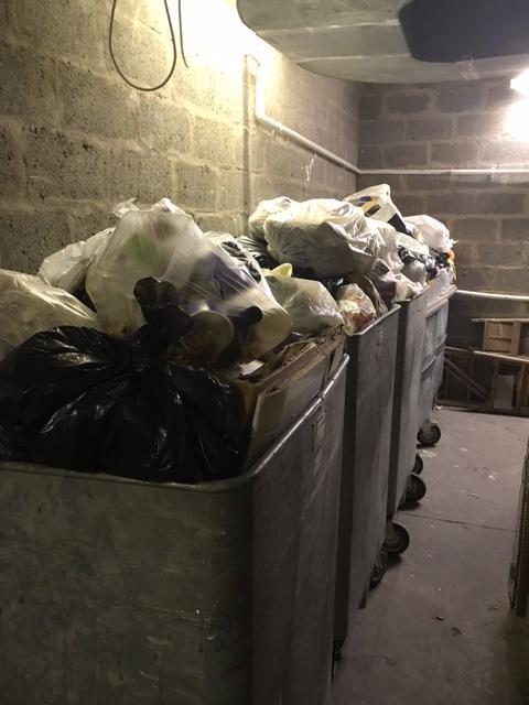 Fears rubbish in the Cockburn street bin store is a hazard