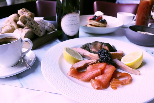 Included is a salmon platter with caviar - with champagne an optional extra. Picture: contributed.