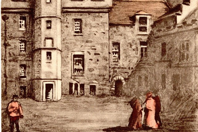 The palace courtyard at Edinburgh Castle