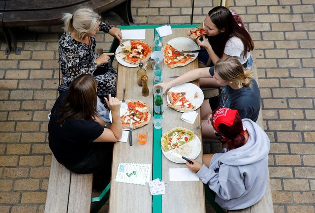 Doesn't everyone want to go out for a meal now that it's allowed, wonders Hayley Matthews (Picture: Tolga Akmen/AFP via Getty Images)