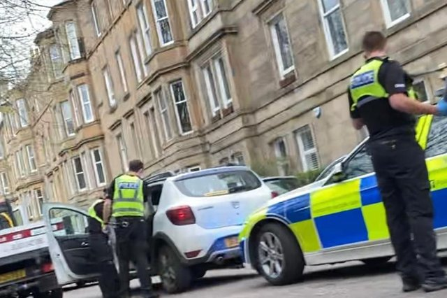 Police respond to ongoing incident in Gosford Place, Edinburgh.