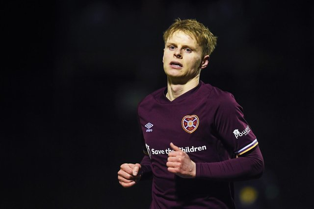 Gary Mackay-Steven joined Hearts in January and is still getting fitter.