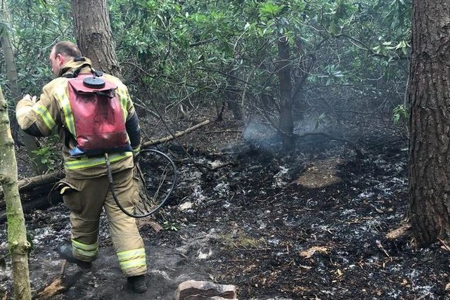 Fire crews attended an 'out of control' blaze at Tyninghame Links near Dunbar (Photo: East Lothian Countryside Rangers).