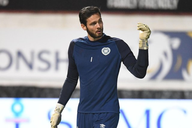 Hearts goalkeeper Craig Gordon is off on international duty.
