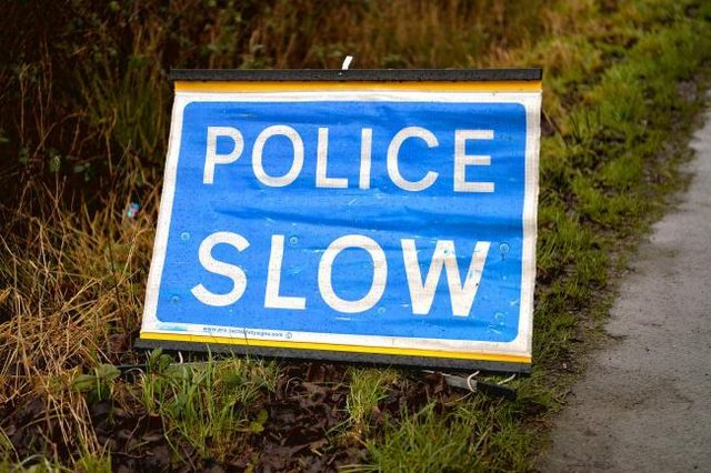 Police have said sheep on the road are causing traffic delays at Toll Road, Kincardine, Fife
