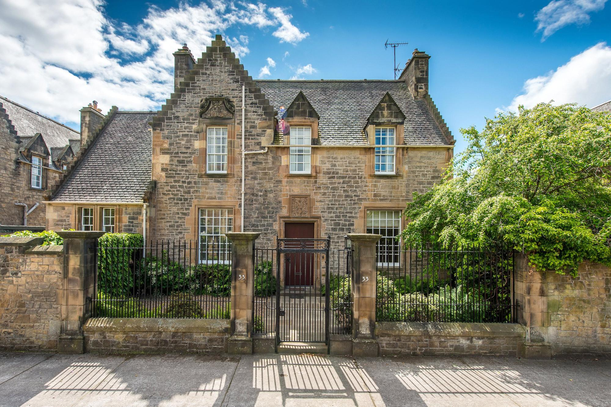 Take a look inside this stunning 17th century style Edinburgh mansion designed and lived in by famous Scottish architect