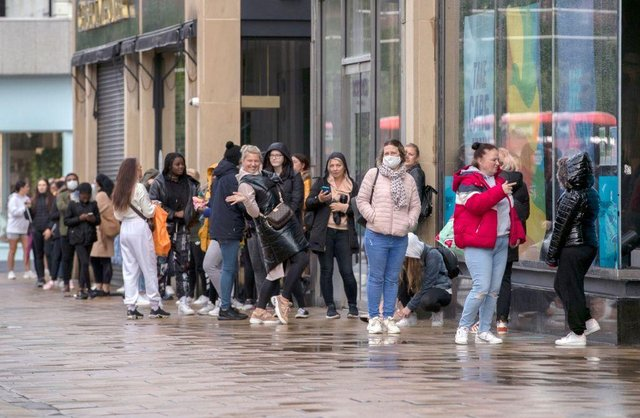 Shoppers were desperate to be the first to get into Primark this morning