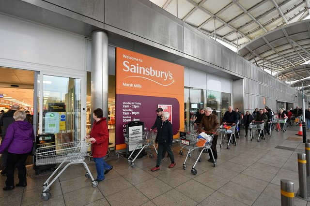 In the 16 weeks to June 26, Sainsbury's sales were up 1.6 per cent compared with the same period a year ago – which was at the height of the first wave when shelves were stripped bare with panic-buying. Picture: Dan Mullan/Getty Images