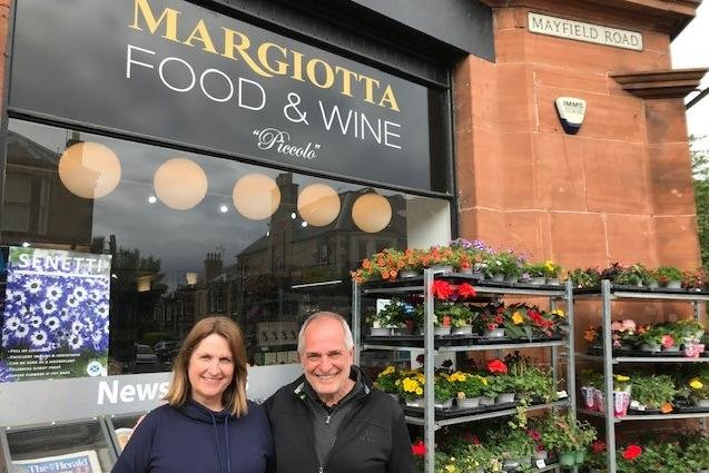Audrey and Franco Margiotta outside their Mayfield Road branch.