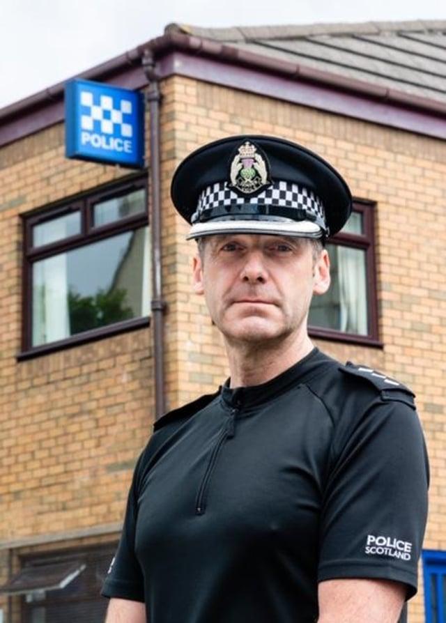 Chief Inspector Scott Richardson is area commander for South West Edinburgh
