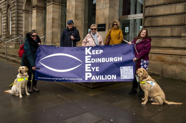 A campaign group of blind and partially sighted people, called Keep Edinburgh Eye Pavilion, has called on NHS Lothian health board to commit to a new eye hospital in Edinburgh (Picture: Lisa Ferguson)