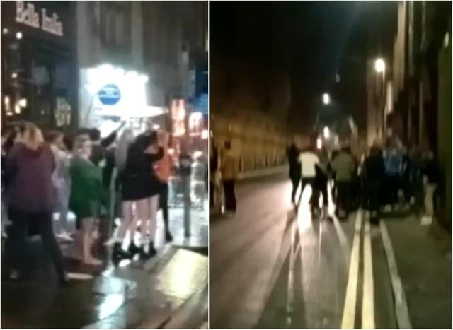 England v Italy: Scotland fans celebrate Euro 2020 final result with impromptu Edinburgh street party. Credit @StephanAJensen