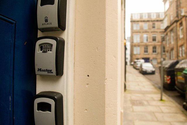 Airbnb key safes have become a familiar sight in Edinburgh