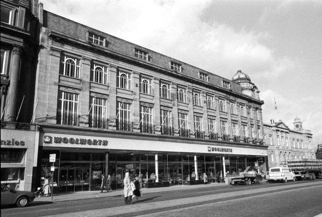 The Woolworth department store which used to occupy the site at the corner of West Register Street and Princes Street Edinburgh. Picture taken March 1982