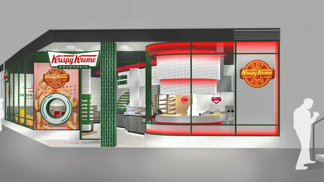 The new Hotlight store will offer customers fresh, hot, original glazed doughnuts when the light is lit